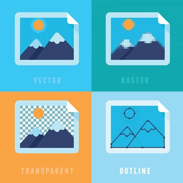 Vector Flat Icons Different Image Formats